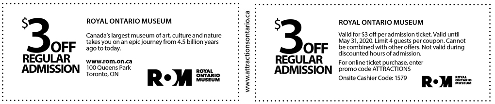 Royal Ontario Museum Coupon - Attractions Ontario