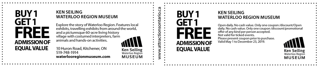 Waterloo Region Museum Coupon - Attractions Ontario