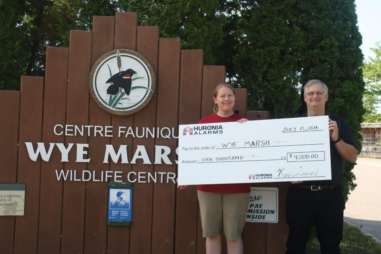 Huronia Alarm & Fire Security Inc. Donates Their Telephone System To The Wye Marsh Wildlife Centre