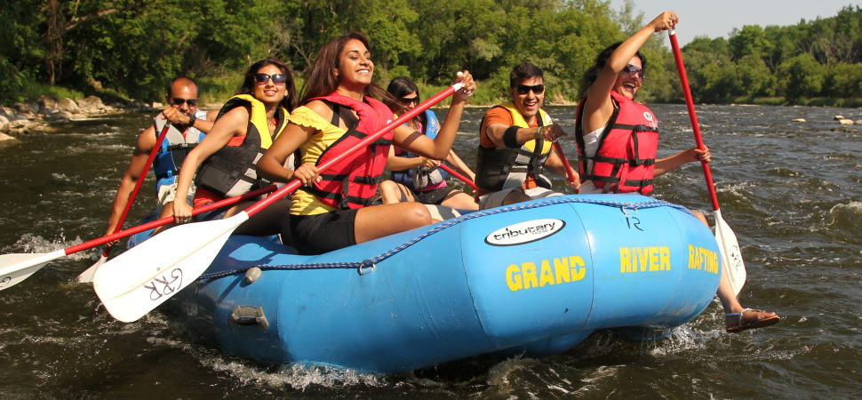 """Experience Everything Together""... raft the Grand River"