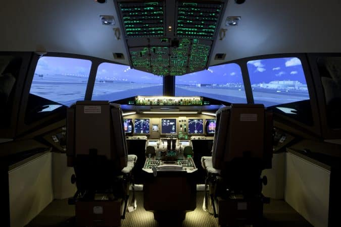 Inside a simulator