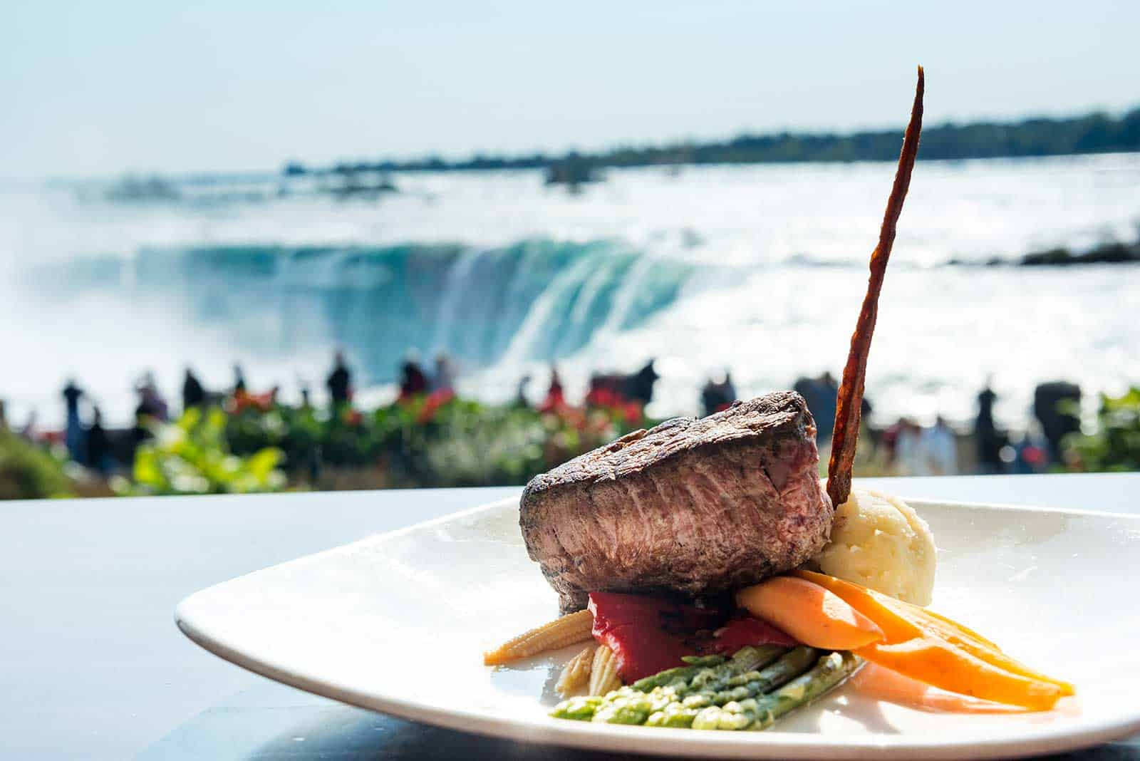 Dine at the edge of the Horseshoe Falls