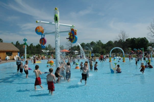 Splash pad at Safari Niagara