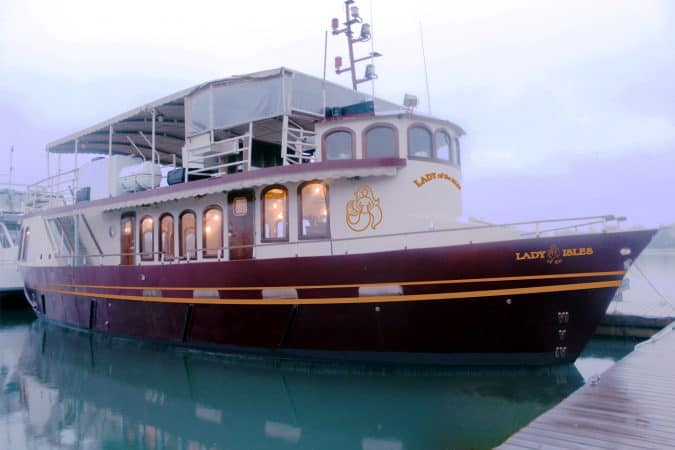 The luxurious 'Lady of the Islands'