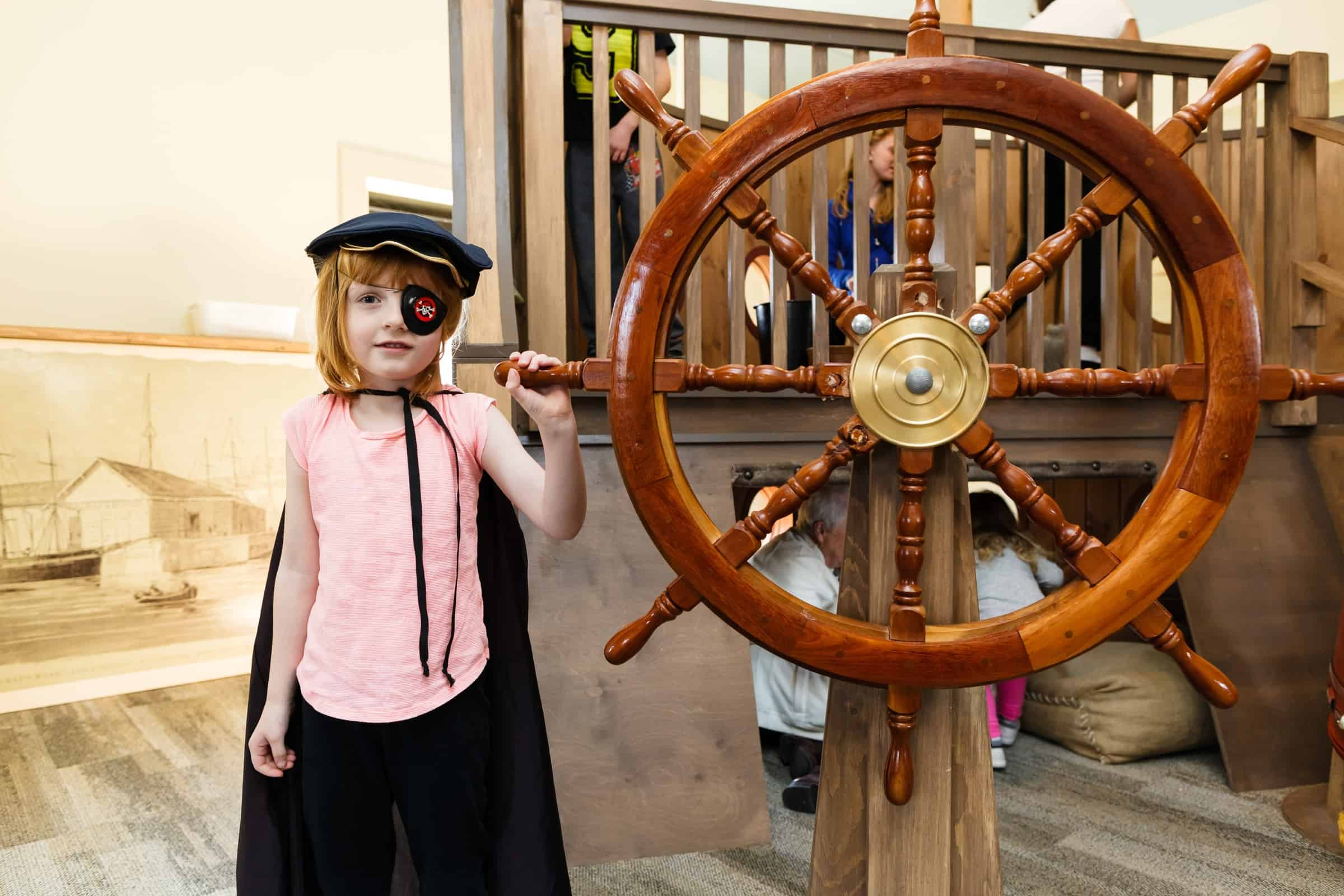 Playing pirate at the Hamilton Children's Museum