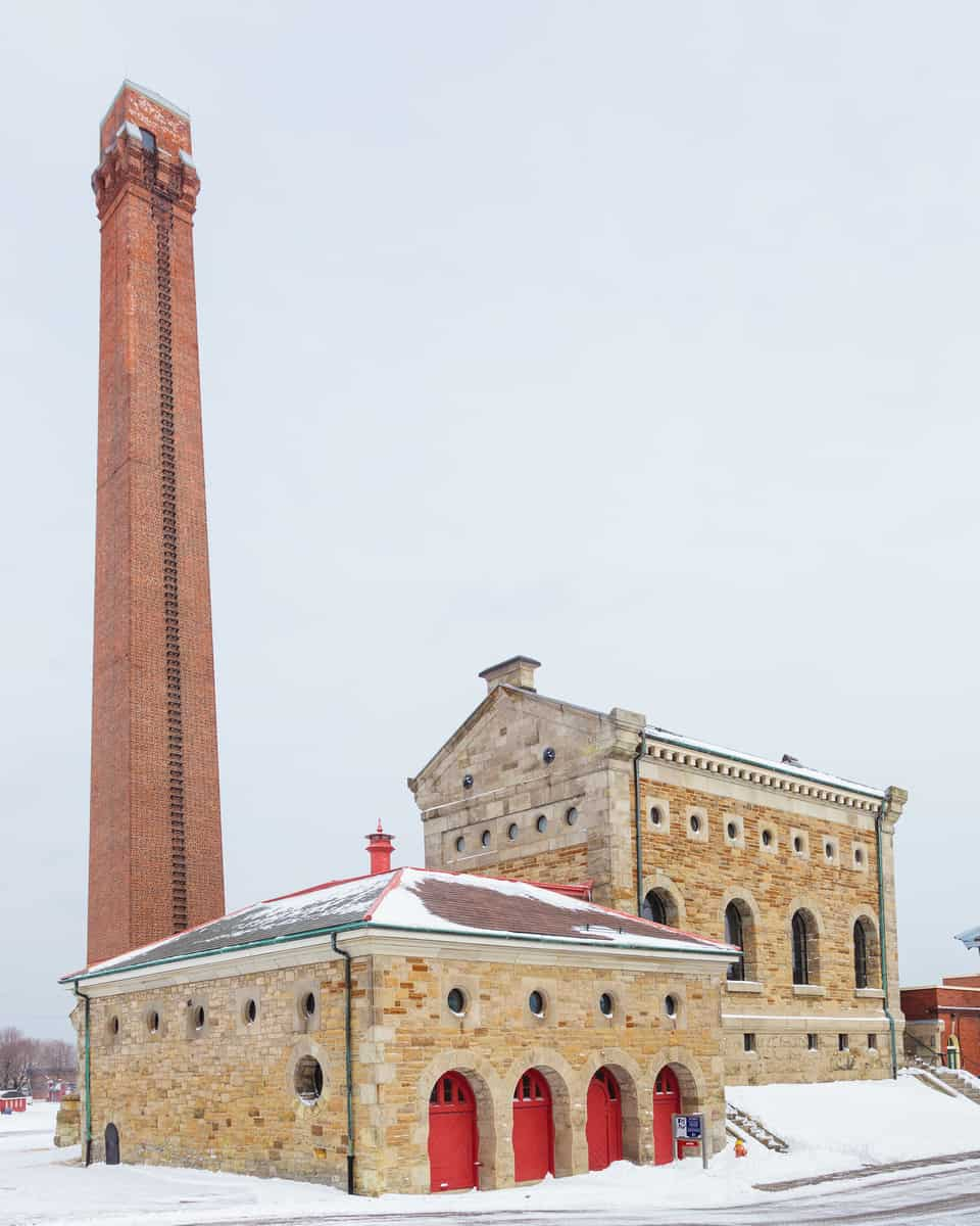 Hamilton Museum of Steam & Technology exterior winter