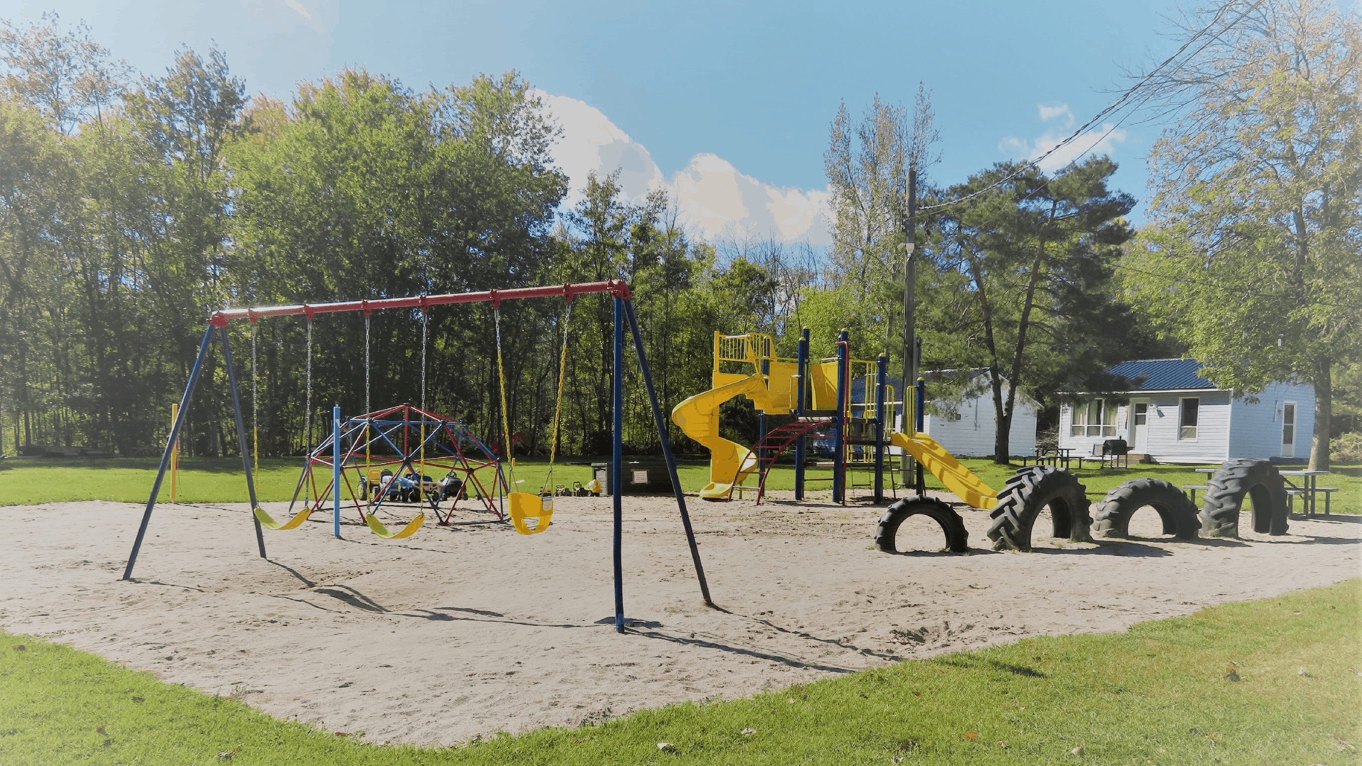 Our playground is great place for children to climb, run, play and have fun.