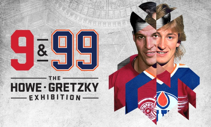9 & 99 Howe & Gretzky exhibition