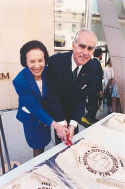 Sonja Bata at the Opening of Bata Shoe Museum