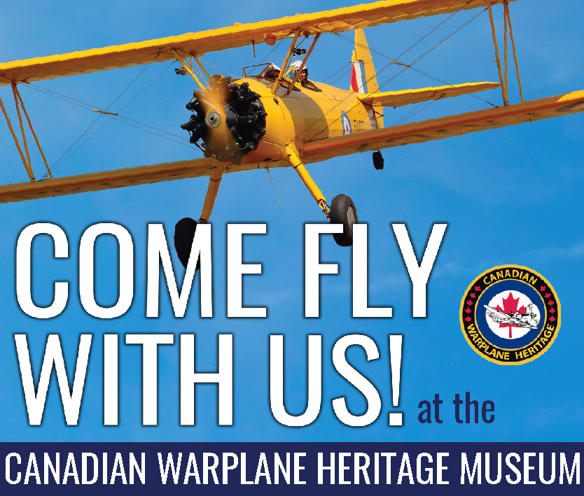 Canadian Warplane Heritage Museum button ad