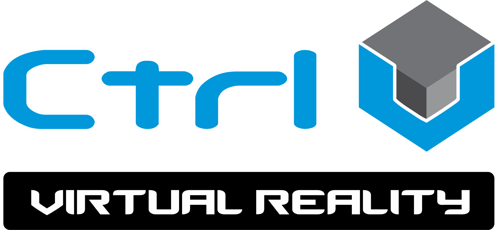Ctrl V Virtual Reality Black Logo (RGB)