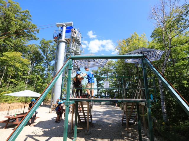 Demo and Tower at Thunderbird Twin Zipline