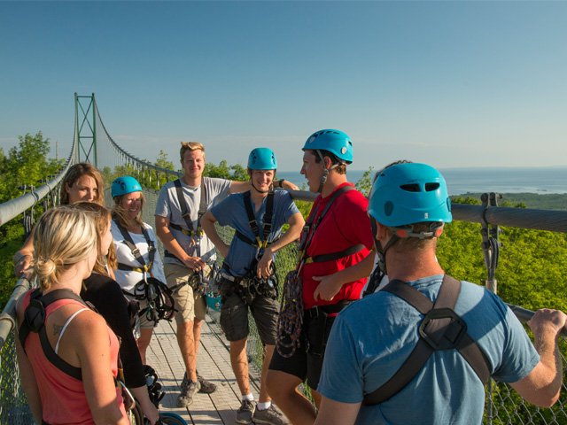 Suspension-Bridge-on-an-Eco Adventure Tour
