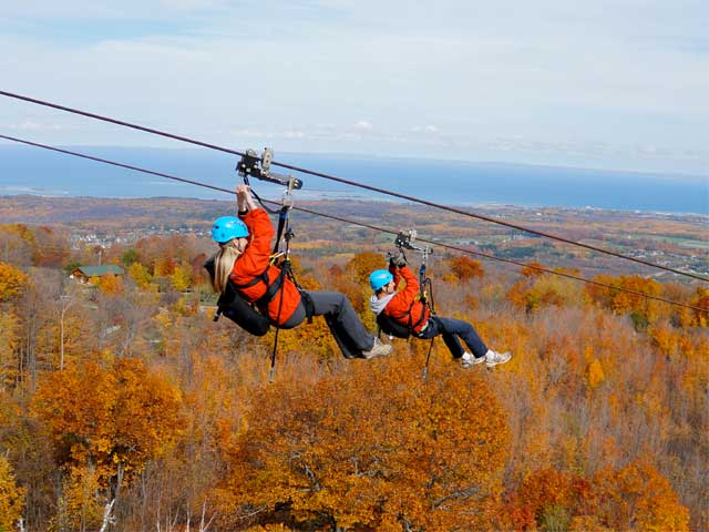 Thunderbird-Twin-Zipline Fall Colours