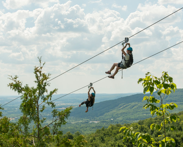 Thunderbird Twin Zipline at Scenic Caves Nature Adventures