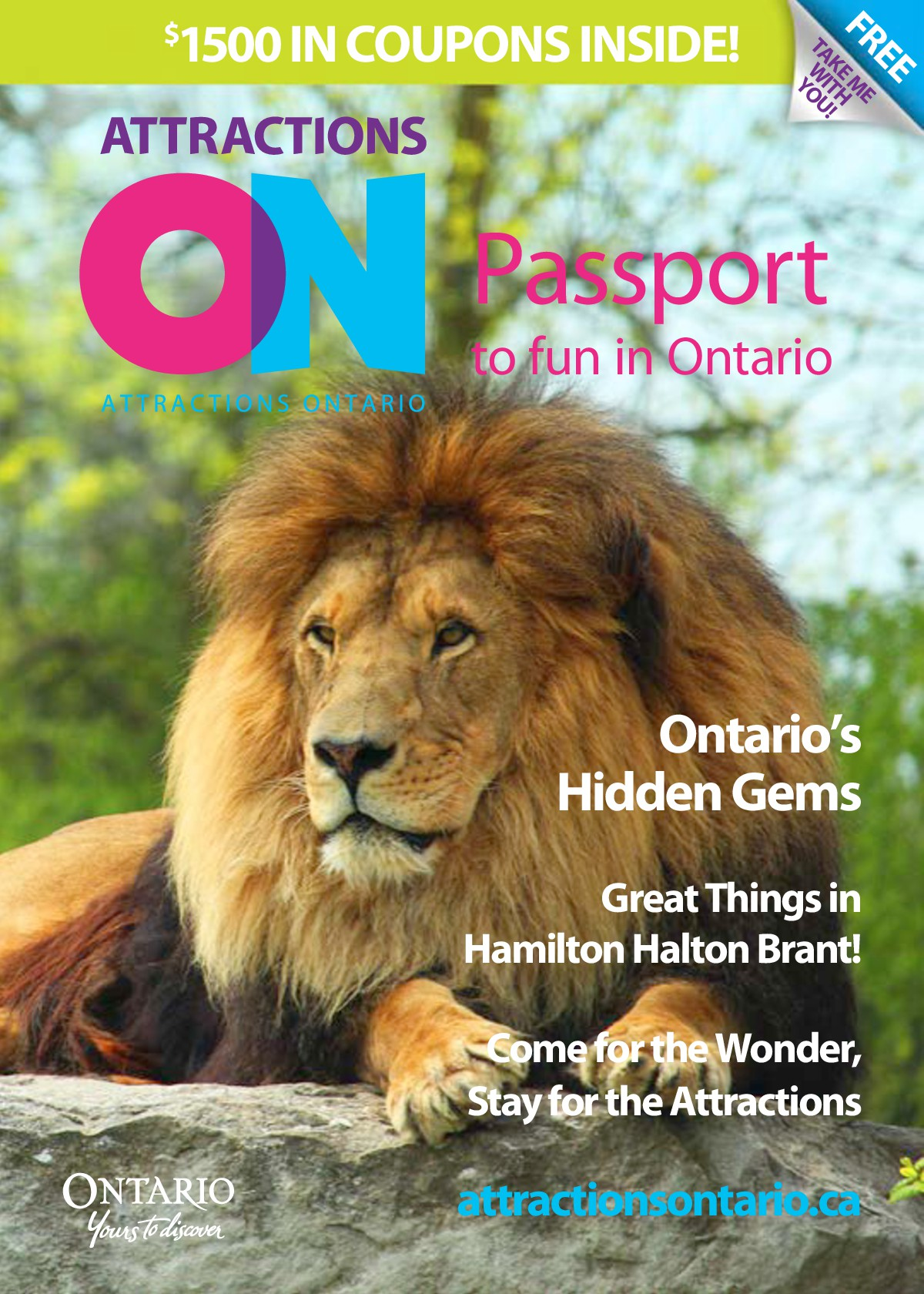 Passport Magazine and Coupon Book - Attractions Ontario