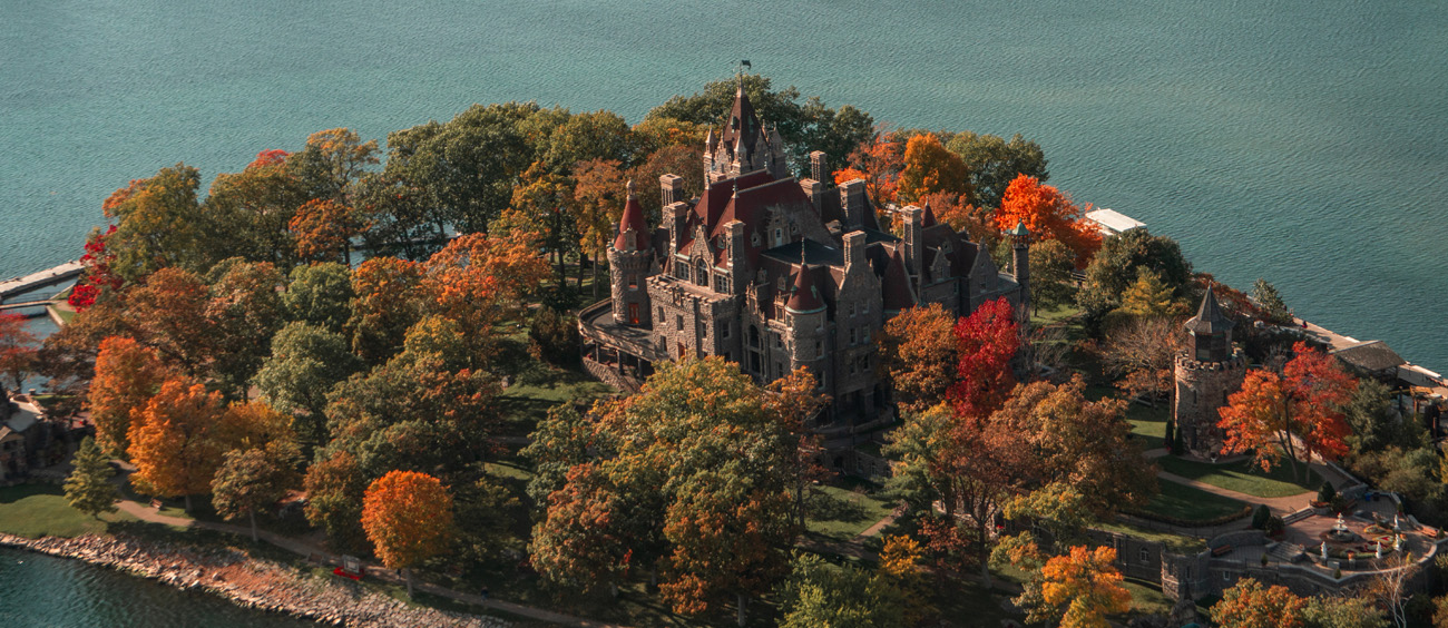Boldt Castle on Heart Island is a must see attraction from the air!