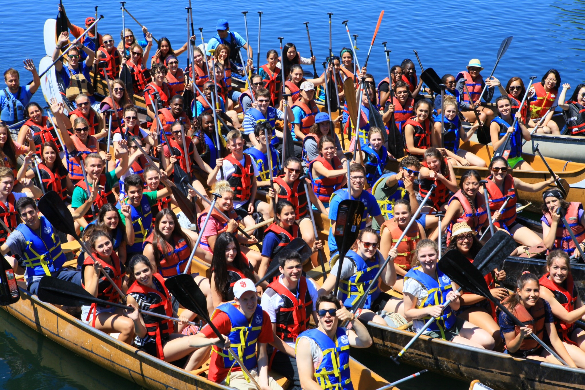 canoe race and team building events on toronto islands